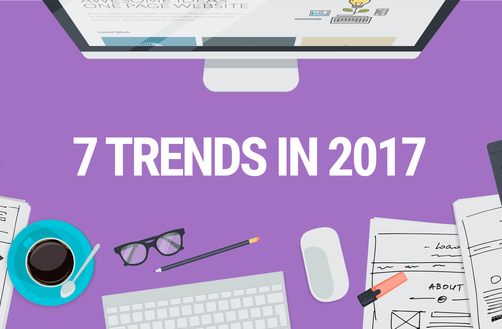 Top 7 Ui Trends That Might Surface In The Year 2017 Html Tuts